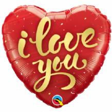 "I Love You Gold Script Foil Balloon (18"") 1pc"